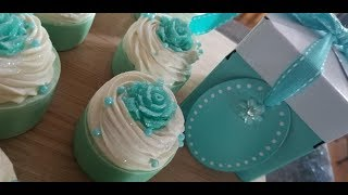 Making My Tiffany Inspired Gift Soapy Cupcakes!