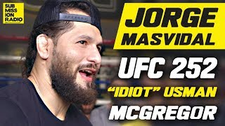 UFC 252: Hilarious Jorge Masvidal Roasts 'Idiot' Kamaru Usman: 'He Was SUPER Forced Into This Fight'