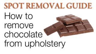 How Remove Chocolate Stains Upholstery