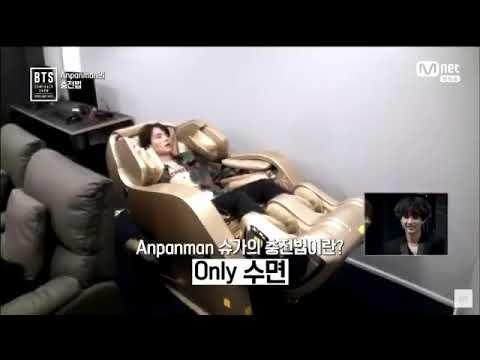 BTS (방탄소년단) Suga Sleeping at Luxurious Massage Chair @ The Comeback Show