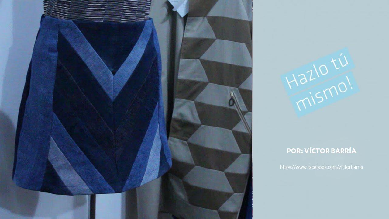 5ce3c34e6 Hazlo Tú Mismo - Edición Diseñadores: Falda Patchwork Jeans
