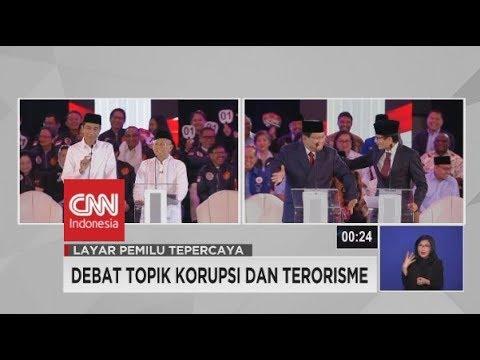 Momen Saat Prabowo Joget, Lalu Dipijat Sandiaga Di Debat Capres 2019