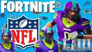 Fortnite: NFL Skins - NFL Team Rumble - NFL Super Bowl is Here!!!