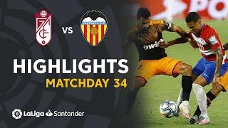 Highlights Granada CF vs Valencia CF (2-2)
