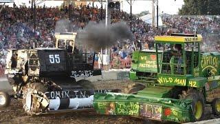 2014 Lorain County Fair Demolition Derby Heat 3 Heavyweight Combines