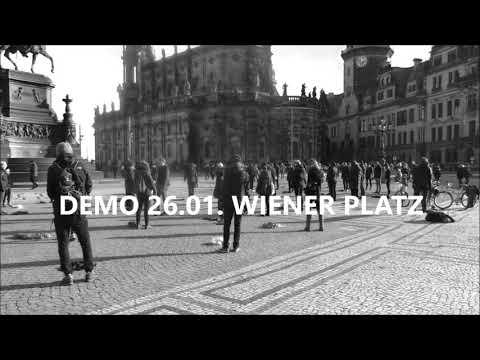 Flashmob in Dresden #Polizeigesetzstoppen #NoPolG #DD2601