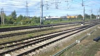 Станция Тосно из окна поезда 049Ч Кисловодск- Санкт-Петербург