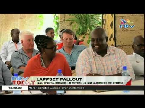 Lamu leaders storm out of meeting on land acquisition for LAPSSET