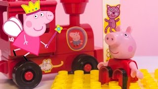 Peppa Pig Train Station Building Blocks Construction Peppa Pig Toys Estación De Trenes De Peppa Pig