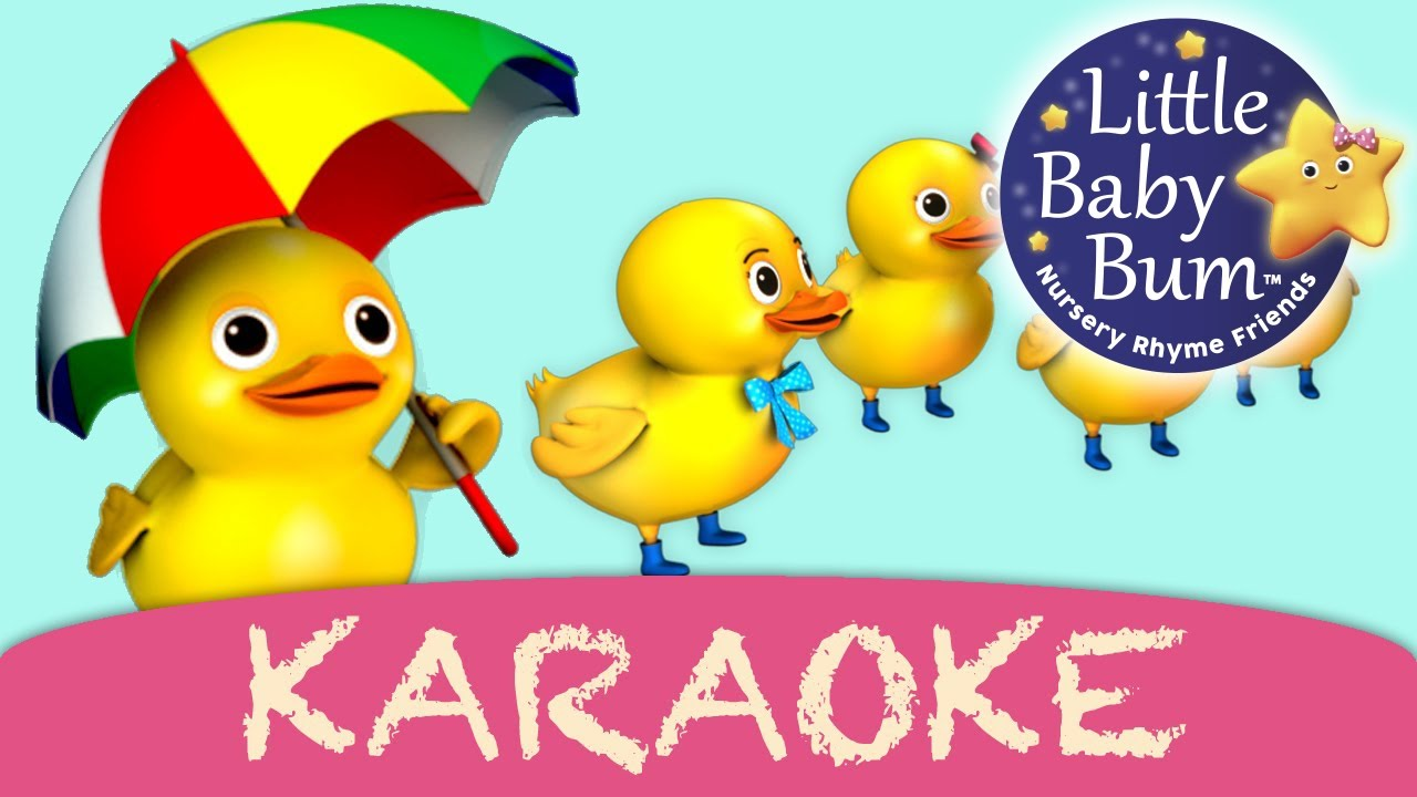 Five Little Ducks Karaoke Version With Lyrics Hd From