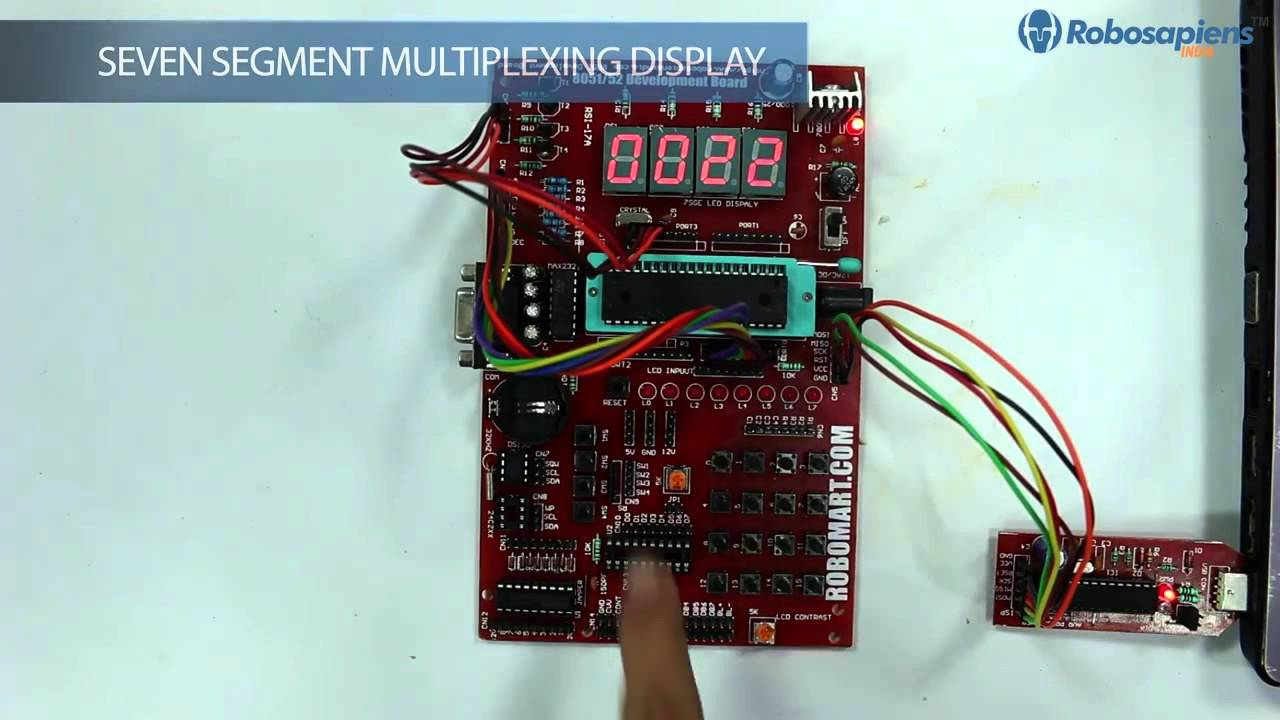 Demonstration Of Projects Using 8051 Development Board Youtube Digital Clock Microcontroller Lcd Display Mini Project