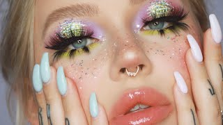 a kind of weird makeup look looked that turned into an even weirder...