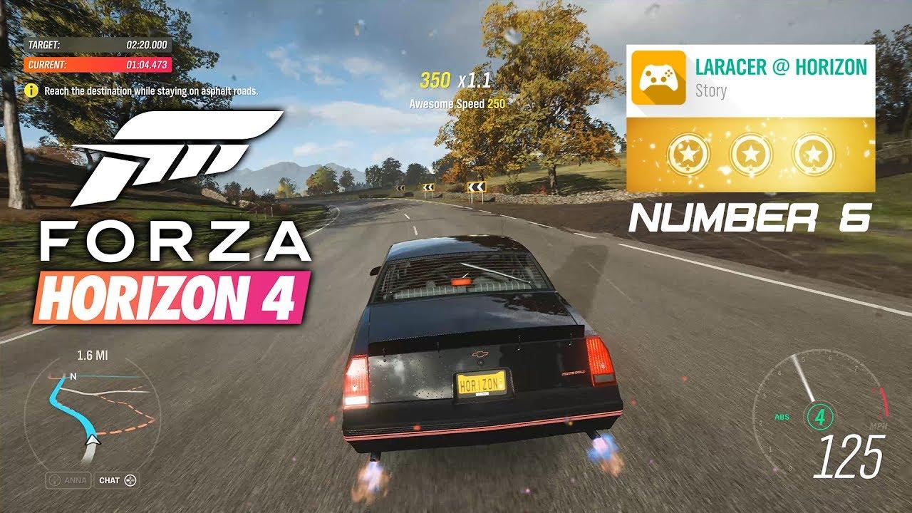 laracer @ horizon number 6 3 stars 4k 60fps gameplay walkthrough