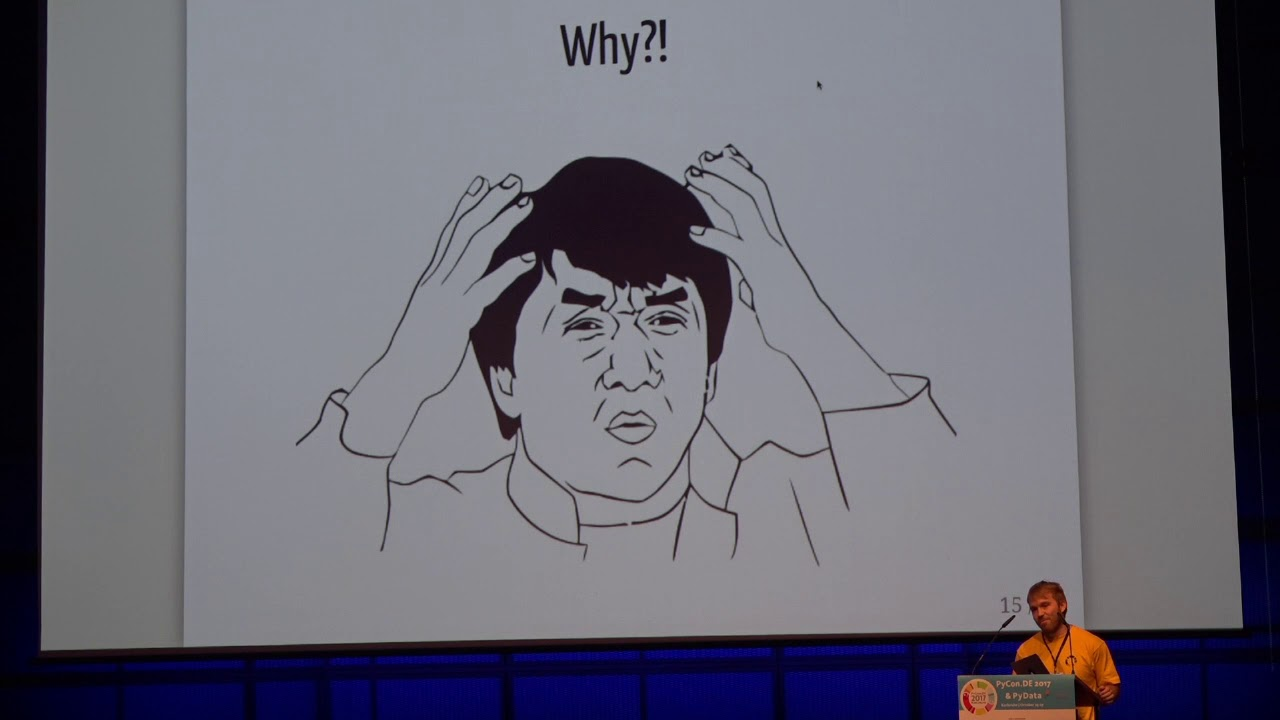 Image from PyCon.DE 2017 Lightning Talks Wednesday