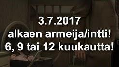 Suolun asepalvelus / intti / armeija 3.7.2017 alkaen!