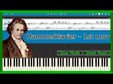 Hammerklavier - 1st mov - Beethoven [Slow + Sheet Music] (Piano Tutorial)