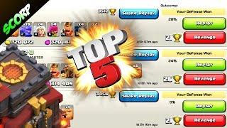 Clash Of Clans - (TOP 5) TH10 EPIC FAILS/ TROLL BASE LAYOUTS/ CHAMPION LEAGUE/ WEEK 18