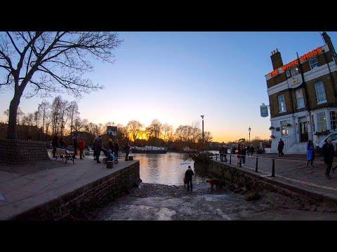 Walking in London: Richmond Riverside to Station [4K, Binaural] ロンドン散歩 リッチモンド川岸から駅へ