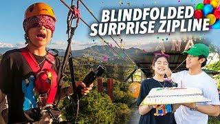 Baixar BDAY BLINDFOLDED ZIPLINE PRANK!! | Ranz and Niana