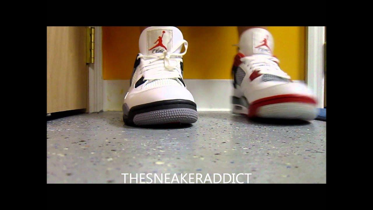 144e60c6b89 Air Jordan White Cement 4 VS Varsity Fire Red Mars IV Sneakers W   DjDelz   PickOne