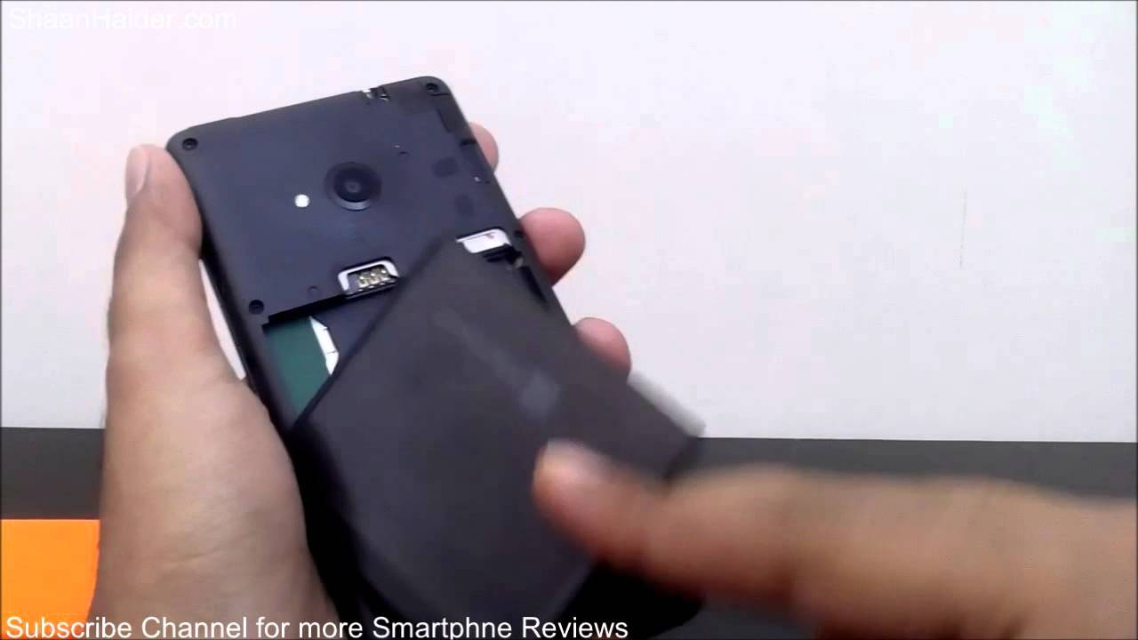 new style d8cdc 2f4cf How to Remove Back Cover of Microsoft Lumia 535 to Insert Battery, SIM and  Micro SD Card