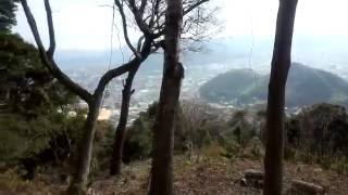 高嶺城に行く道中から見える山口市の景色