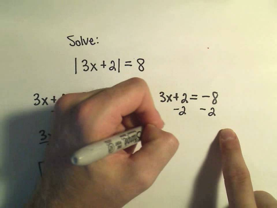 Solving Absolute Value Equations Example 1 Youtube