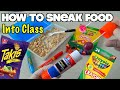 5 Simple Ways To Sneak Food Into Class When You're Hungry - School Hacks For Kids (HOW TO HACK)