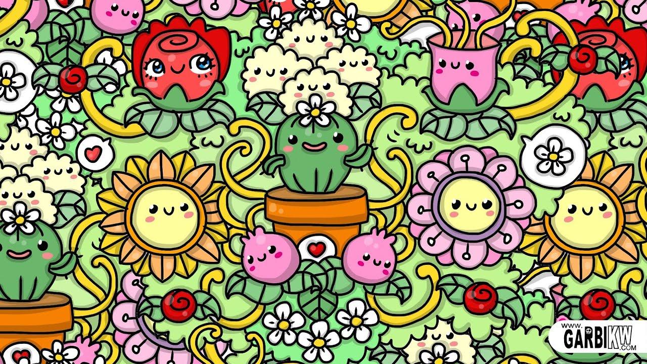kawaii doodles cute flowers graffiti kw garbi