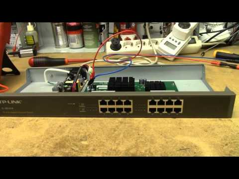 Trash-picked TP-LINK TL-SG1016 16-port GbE Switch Repair