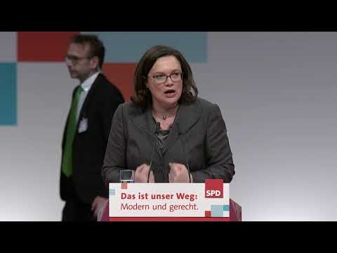 Rede von Andrea Nahles beim SPD-Bundesparteitag am 7.12.2017