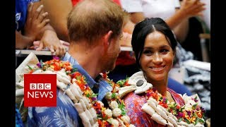 Meghan's message of female empowerment in Fiji - BBC News