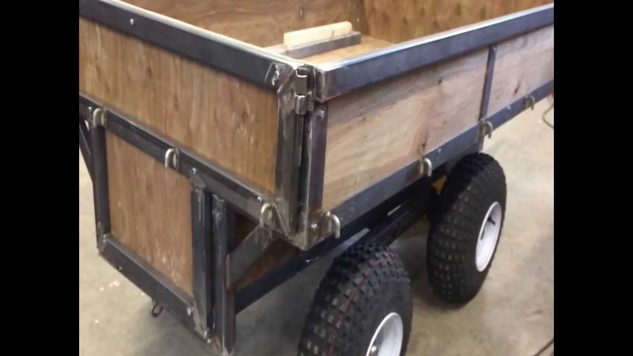 Atv Utility Trailer Is Ready To Paint Youtube