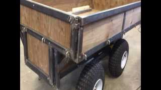 Atv Utility Trailer Is Ready To Paint