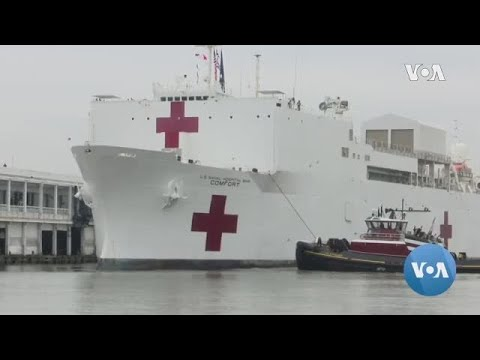 The US Military Hospital Ship Comfort Has Arrived In New York