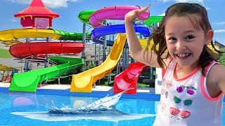 Öykü at the Water Park - Funny Kids Video