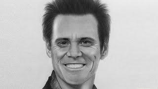 Jim Carrey | Realistic portrait drawing 2016 (Time Lapse video)