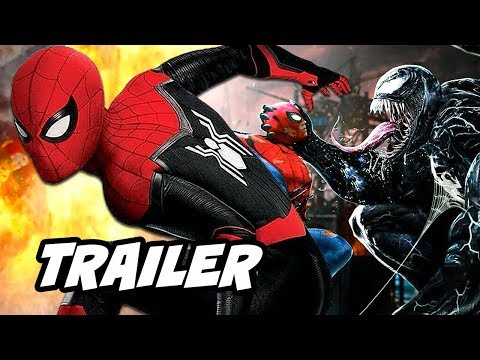 Spider-Man Far From Home Trailer - Venom Future Crossover News Breakdown