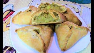 Вкуснейшие треугольники без мяса. Татарские постные пирожки ( эчпочмаки ) с картошкой.