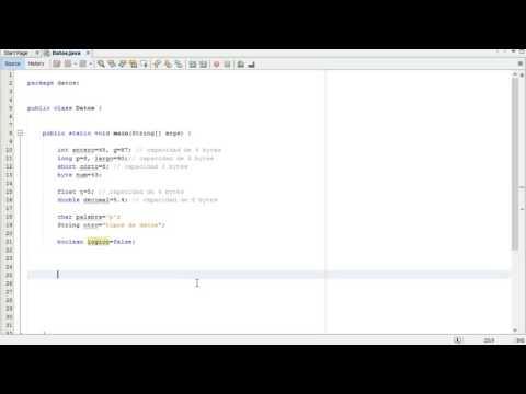 Tipos de datos (short, byte, char, String y boolean) Java NetBeans 8.1