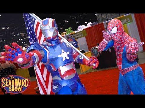AVENGERS Vs COMIC CON! Spider-Man, Captain America, Iron Man - The Sean Ward Show