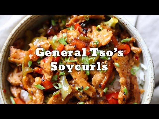 VEGAN GENERAL TSO'S SOY CURLS | Vegan Richa Recipes