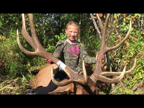 AMAZING! 12 Year Old Minnesota Girl Bags Massive Elk On First Hunt