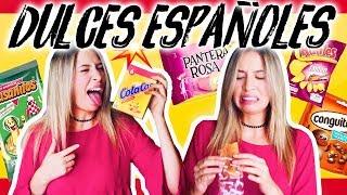 Probando DULCES ESPAÑOLES 🍬🇪🇸 - Comí pipas con cáscara 🤦🏼♀️💥🍭