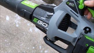 EGO 575 CFM Blower vs  Toro Ultra Plus - cleaning snow