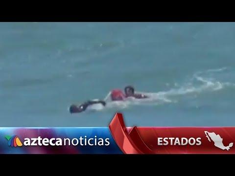 Video. Salvavidas rescata a bañista en Mazatlán