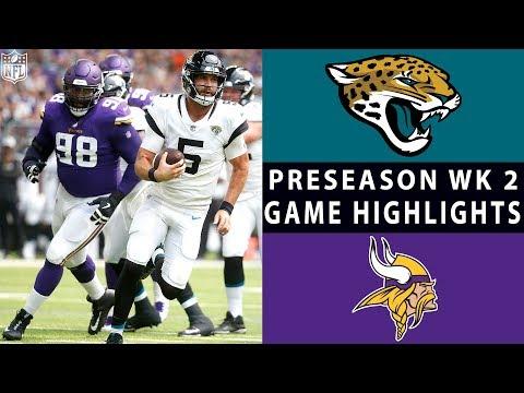 Jaguars vs. Vikings Highlights | NFL 2018 Preseason Week 2