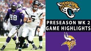 Jaguars vs. Vikings Highlights   NFL 2018 Preseason Week 2