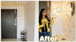 Indian Entryway Makeover On A Budget / Diy Entryway Makeover   Dhara Patel