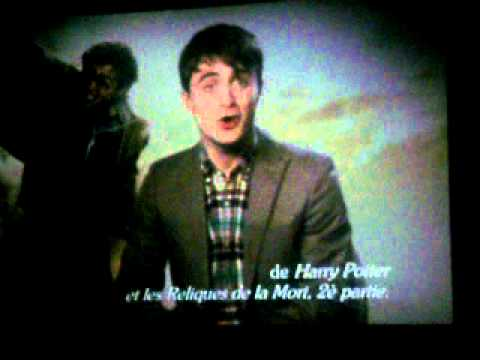 Deathly Hallows part 2 message from Daniel Radcliffe to French fans